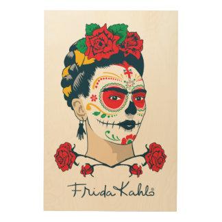 Frida Kahlo | El Día de los Muertos Wood Wall Art