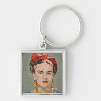 Frida Kahlo en Coyoacán Portrait Key Ring