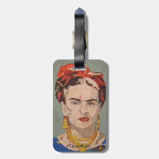 Frida Kahlo en Coyoacán Portrait Luggage Tag