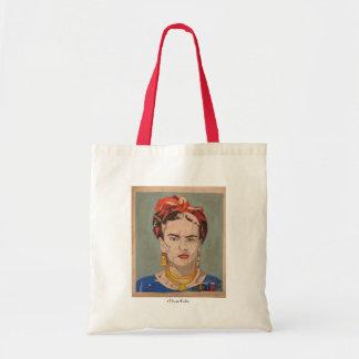 Frida Kahlo en Coyoacán Portrait Canvas Bag