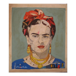 Frida Kahlo en Coyoacán Portrait Poster