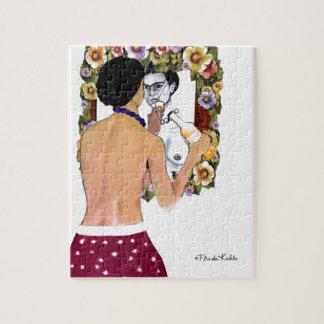 Frida Kahlo en el Espejo Portrait Jigsaw Puzzle