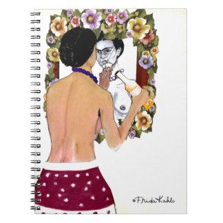 Frida Kahlo en el Espejo Portrait Notebook