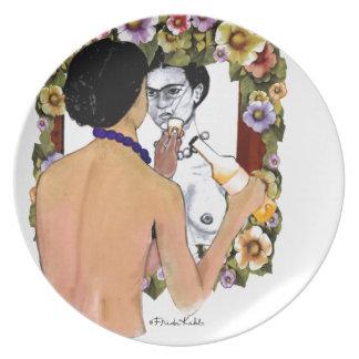 Frida Kahlo en el Espejo Portrait Plate