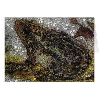 Frida Kahlo FK-Style Frog Painting Card