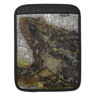 Frida Kahlo FK-Style Frog Painting iPad Sleeve