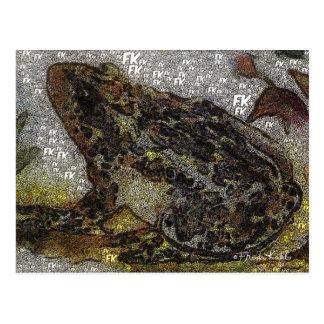 Frida Kahlo FK-Style Frog Painting Postcard