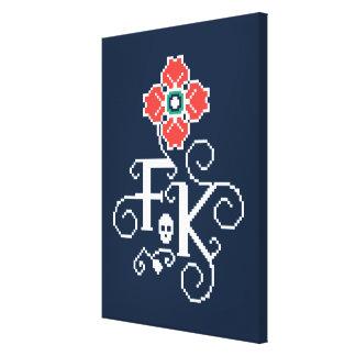 Frida Kahlo | Floral Tribute Canvas Print