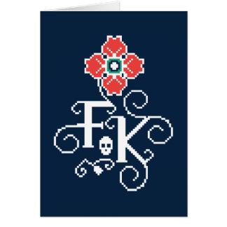 Frida Kahlo | Floral Tribute Card
