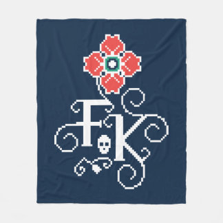 Frida Kahlo   Floral Tribute Fleece Blanket
