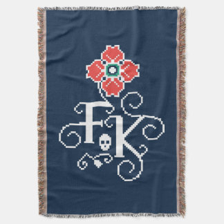 Frida Kahlo | Floral Tribute Throw Blanket