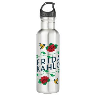 Frida Kahlo | Floral Typography 710 Ml Water Bottle