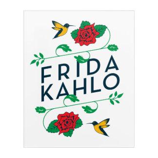 Frida Kahlo | Floral Typography Acrylic Print