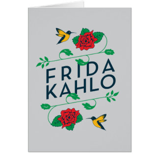 Frida Kahlo | Floral Typography Card