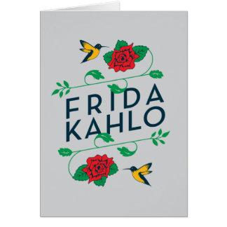 Frida Kahlo | Floral Typography Card