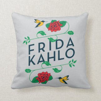 Frida Kahlo | Floral Typography Cushion