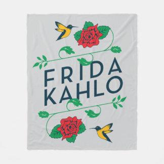Frida Kahlo   Floral Typography Fleece Blanket