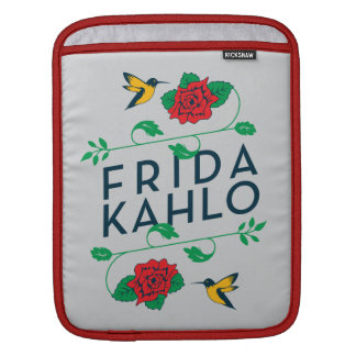Frida Kahlo | Floral Typography iPad Sleeve