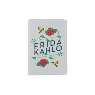 Frida Kahlo | Floral Typography Passport Holder