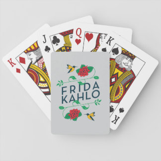 Frida Kahlo | Floral Typography Playing Cards