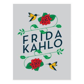 Frida Kahlo | Floral Typography Postcard