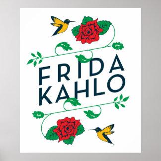 Frida Kahlo | Floral Typography Poster