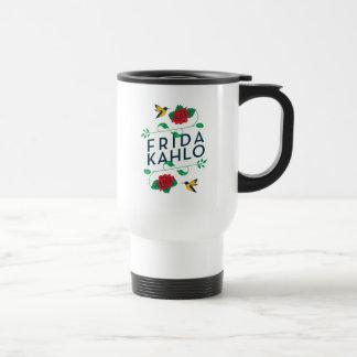 Frida Kahlo | Floral Typography Travel Mug