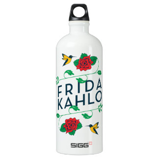 Frida Kahlo | Floral Typography Water Bottle