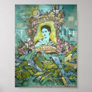Frida Kahlo Graffiti 2 Print