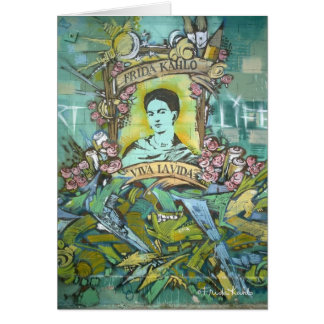 Frida Kahlo Graffiti Card