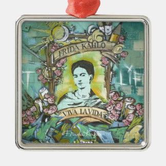Frida Kahlo Graffiti Christmas Ornament