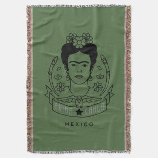 Frida Kahlo | Heroína Throw Blanket