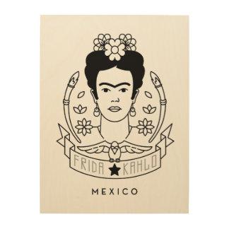 Frida Kahlo | Heroína Wood Wall Decor