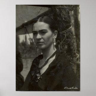 Frida Kahlo in Black Poster