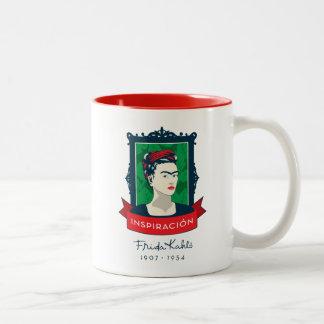 Frida Kahlo | Inspiración Two-Tone Coffee Mug