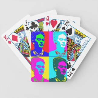 Frida Kahlo Inspired Portrait Bicycle Playing Cards