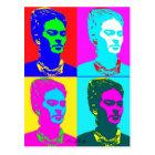 Frida Kahlo Inspired Portrait Postcard