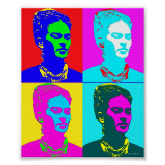 Frida Kahlo Inspired Portrait Poster
