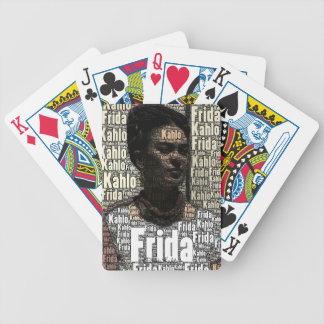 Frida Kahlo Lettering Portrait Bicycle Playing Cards