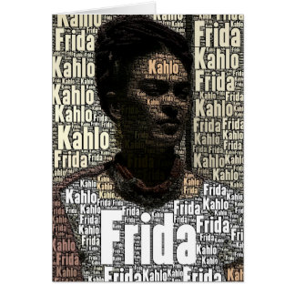 Frida Kahlo Lettering Portrait Card