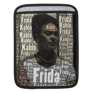Frida Kahlo Lettering Portrait iPad Sleeve