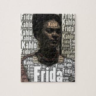 Frida Kahlo Lettering Portrait Jigsaw Puzzle