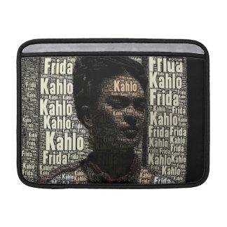Frida Kahlo Lettering Portrait MacBook Sleeve