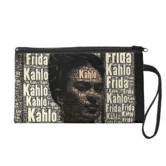 Frida Kahlo Lettering Portrait Wristlet