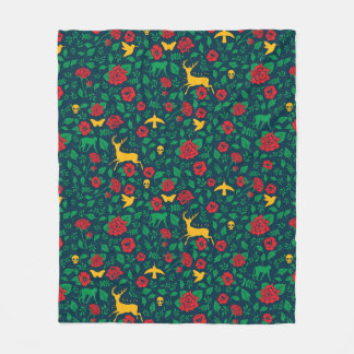 Frida Kahlo   Life Symbols Fleece Blanket