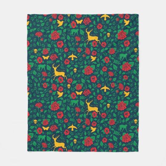 Frida Kahlo | Life Symbols Fleece Blanket