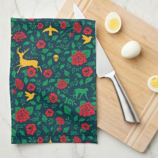 Frida Kahlo | Life Symbols Tea Towel