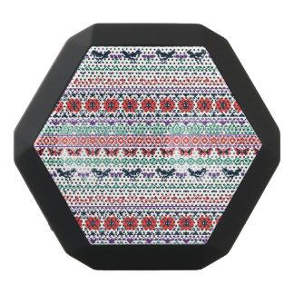 Frida Kahlo   Mexican Pattern Black Bluetooth Speaker
