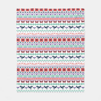 Frida Kahlo   Mexican Pattern Fleece Blanket
