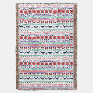 Frida Kahlo | Mexican Pattern Throw Blanket